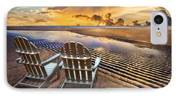 Catching The Dawn IPhone Case by Debra and Dave Vanderlaan