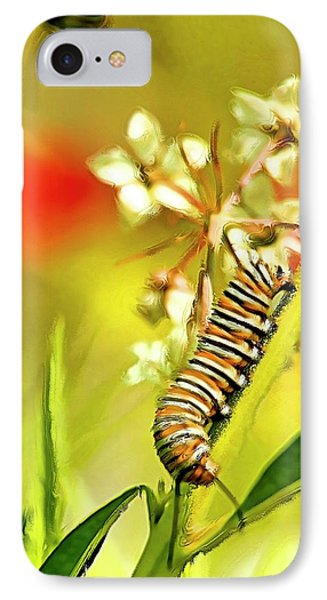 Caterpillar Stage 2 IPhone Case by Geraldine Scull