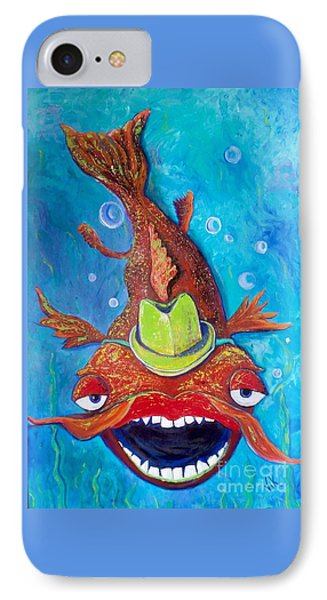 Catfish Clyde IPhone Case by Vickie Scarlett-Fisher