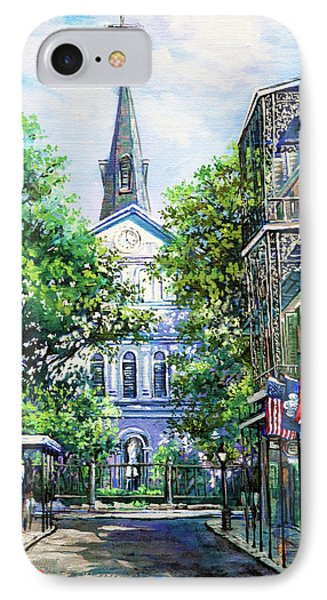 Cathedral At Orleans Phone Case by Dianne Parks