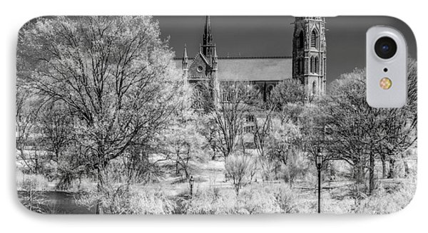 IPhone Case featuring the photograph Cathedral Basilica Of The Sacred Heart Ir by Susan Candelario