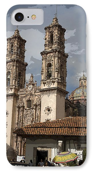 Cathedral In Taxco Mexico IPhone Case by Carl Purcell