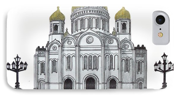 Cathedral  Of Christ The Savior - Moscow IPhone Case by Frederic Kohli