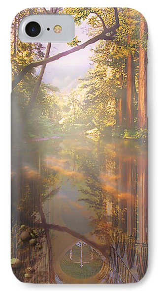 IPhone Case featuring the painting Cathedral Redwoods by Robby Donaghey