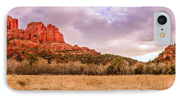 Cathedral Rock Panorama IPhone Case by Alexey Stiop