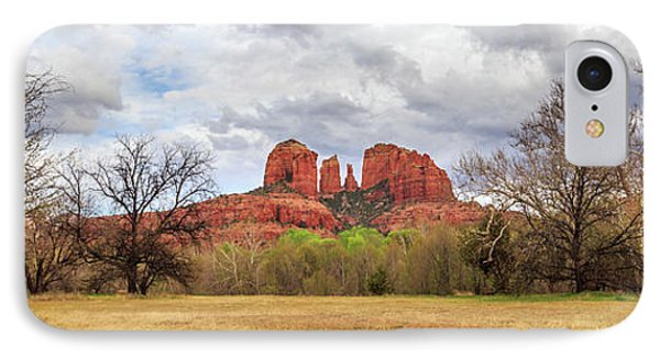 Cathedral Rock Panorama IPhone Case by James Eddy