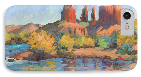 Moonrise Cathedral Rock Sedona IPhone Case by Diane McClary