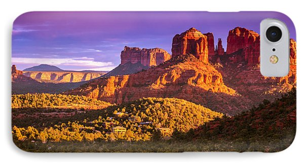 Cathedral Rock Sunset IPhone Case by Alexey Stiop