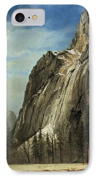 Cathedral Rocks A Yosemite View IPhone Case