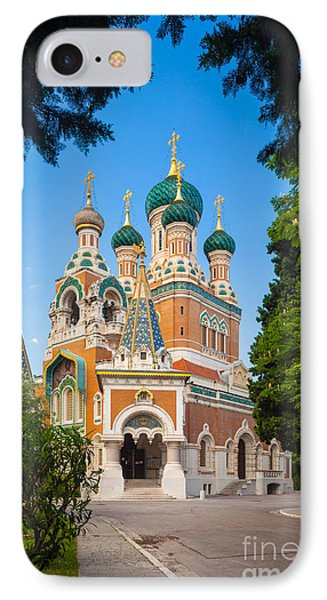 Cathedral Russe IPhone Case by Inge Johnsson