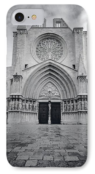 Cathedral Tarragona Spain Bw IPhone Case by Joan Carroll