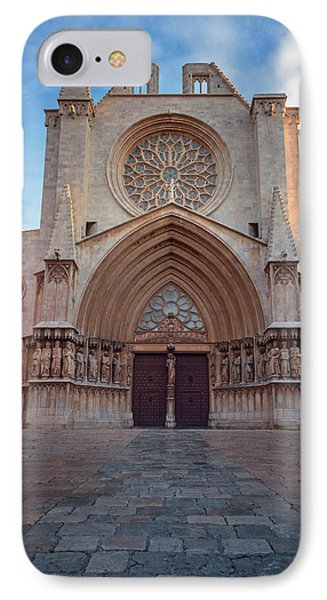 Cathedral Tarragona Spain IPhone Case by Joan Carroll
