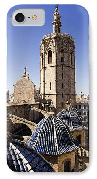 Cathedral Valencia Micalet Tower IPhone Case by For Ninety One Days