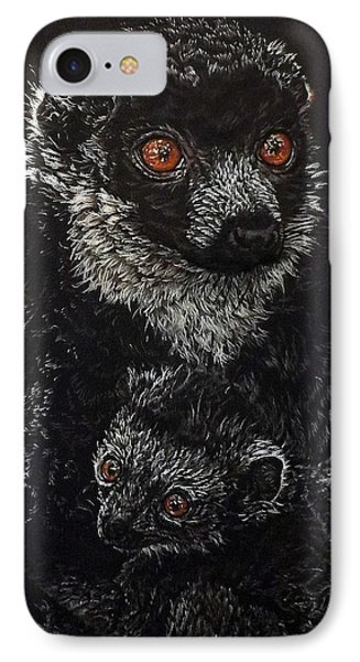 Catherina And Baby Abby IPhone Case by Linda Becker