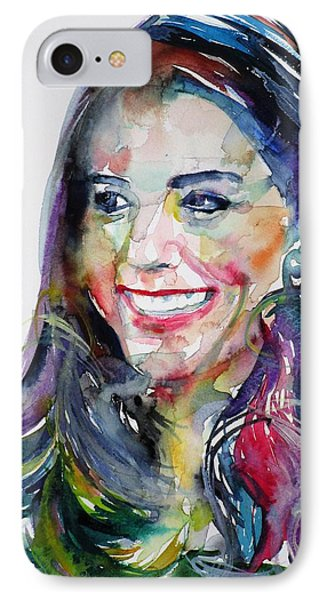 Catherine,duchess Of Cambridge - Watercolor Portrait.5 IPhone Case