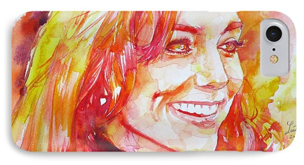 Catherine,duchess Of Cambridge - Watercolor Portrait.6 IPhone Case