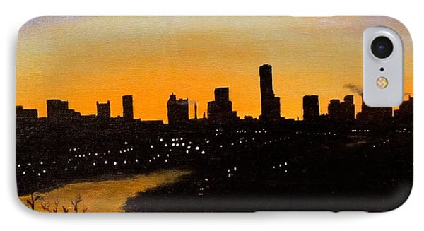 IPhone Case featuring the painting Catherine's Sunrise by Jack Skinner