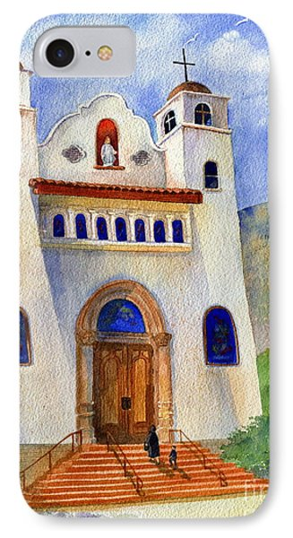 Catholic Church Miami Arizona IPhone Case by Marilyn Smith