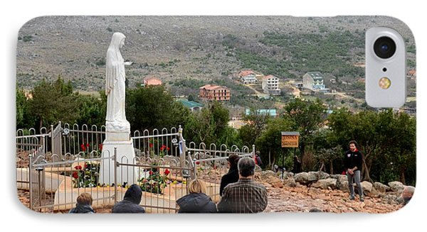Catholic Pilgrim Worshipers Pray To Virgin Mary Medjugorje Bosnia Herzegovina IPhone Case