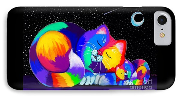 IPhone Case featuring the drawing Catnaps For Two by Nick Gustafson