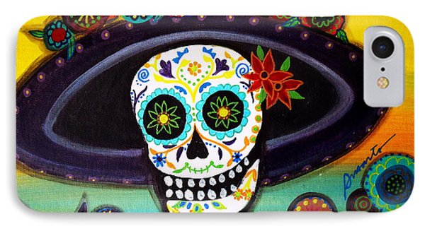 IPhone Case featuring the painting Catrina by Pristine Cartera Turkus