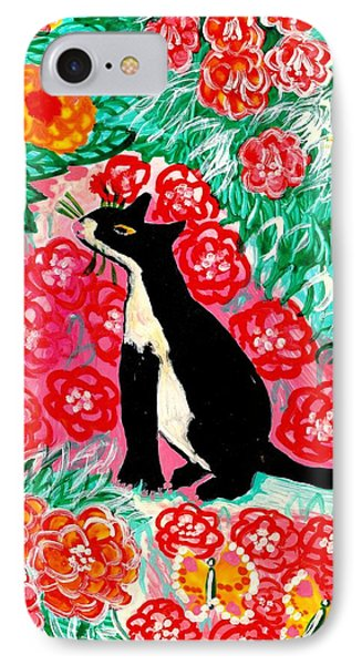 Cats And Roses Phone Case by Sushila Burgess