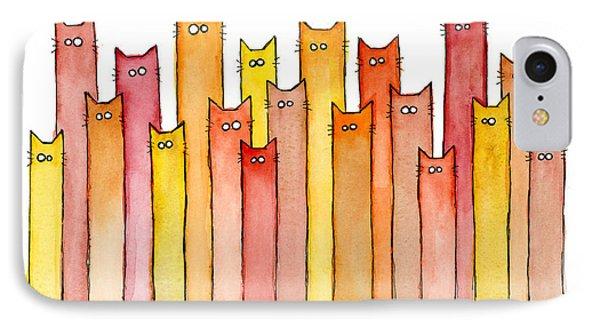 Cats Autumn Colors IPhone Case