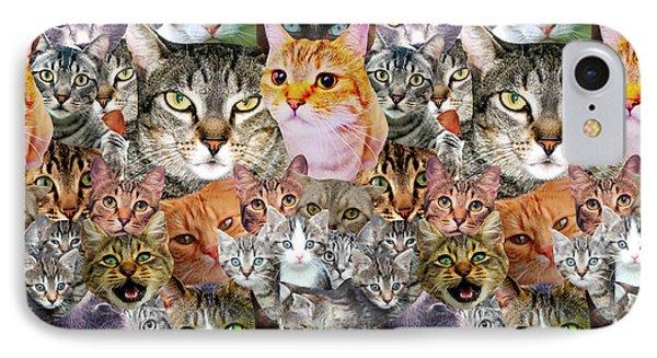Cats IPhone 7 Case by Gloria Sanchez