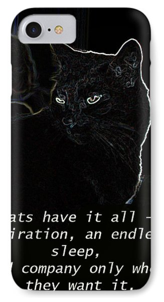 Cats Have It All IPhone Case by Charles Shoup