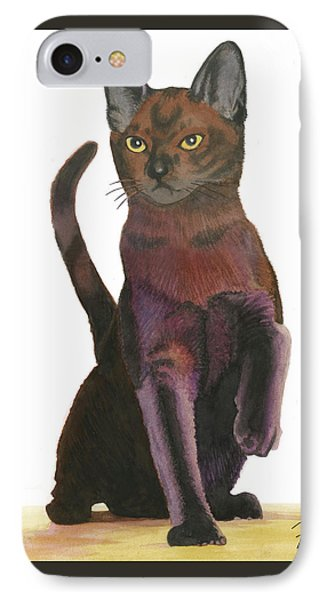 IPhone Case featuring the painting Cats Meow by Ferrel Cordle