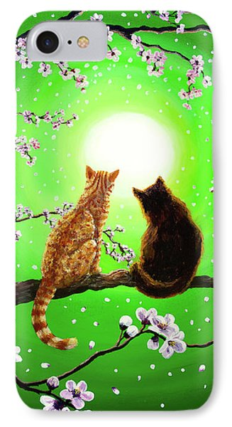 Cats On A Spring Night IPhone Case by Laura Iverson