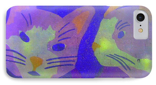 IPhone Case featuring the photograph Cats On A Wall by John King