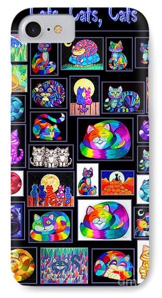 Catscatscats Phone Case by Nick Gustafson