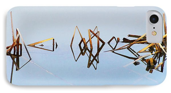 Cattail Reflections IPhone Case by Francesa Miller