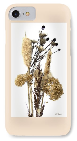 IPhone Case featuring the digital art Cattails And November Flowers II by Lise Winne