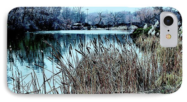 Cattails On The Water IPhone Case by Sandy Moulder