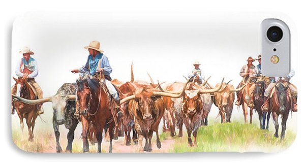 Cattle Drive IPhone Case by David and Carol Kelly
