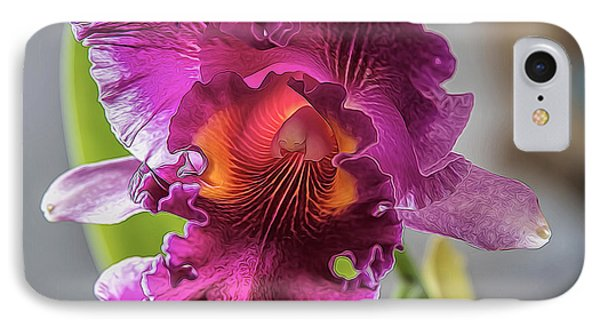 Cattleya IPhone Case by Alana Thrower