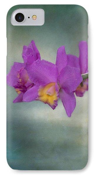 Cattleya Orchid  IPhone Case by Kim Hojnacki