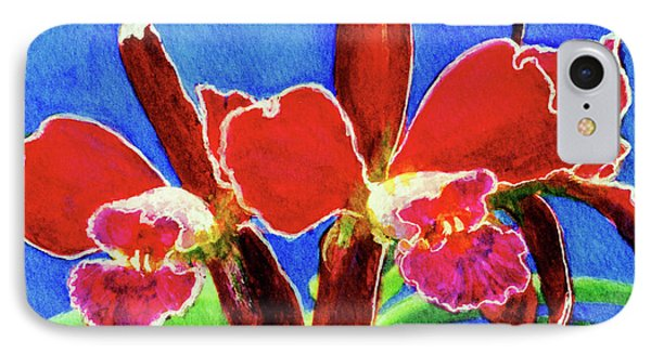 Cattleya Orchids Flowers #215 Phone Case by Donald k Hall