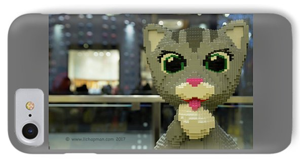 IPhone Case featuring the photograph Caturday In Legoville by Lora Lee Chapman