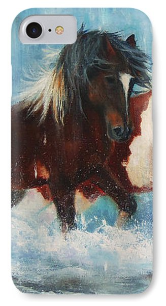 IPhone Case featuring the painting Caught In The Rain  Close Up by Karen Kennedy Chatham