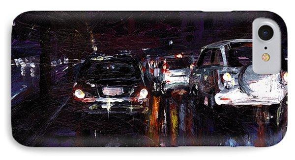 Caught In Traffic IPhone Case by Amani Al Hajeri