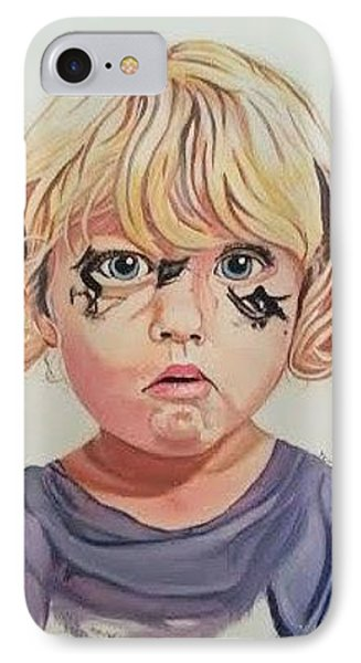 IPhone Case featuring the painting Caught With A Makeup-mess-mila by Kevin F Heuman