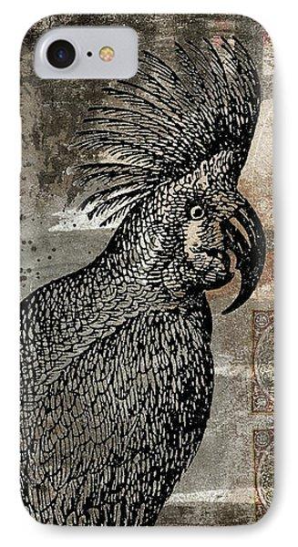 Cockatoo iPhone 7 Case - Caution Hot Cockatoos Postcard by Carol Leigh