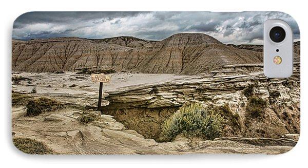 Caution - Steep Cliffs - Toadstool Geologic Park IPhone Case