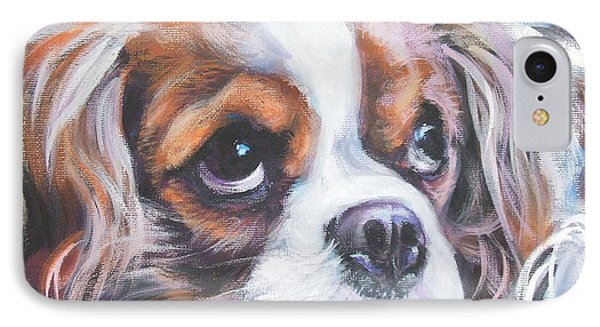 Cavalier King Charles Spaniel Blenheim Phone Case by Lee Ann Shepard
