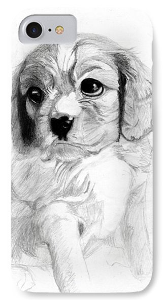 Cavalier King Charles Spaniel Puppy 2 IPhone Case by David Smith