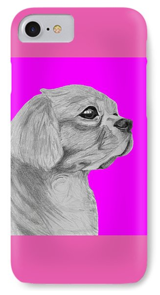 Cavalier King Charles Spaniel With Pink Background IPhone Case