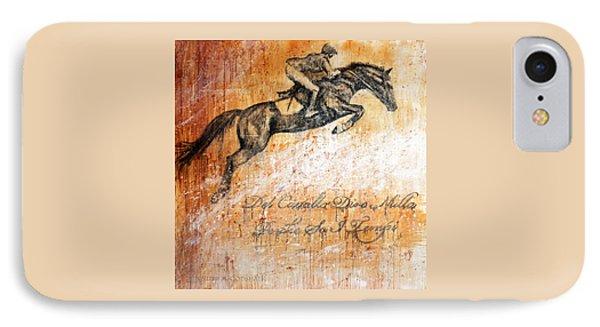 Cavallo Contemporary Horse Art IPhone Case by Jennifer Godshalk